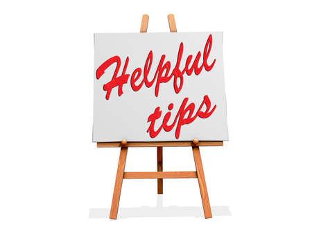 Nuttige tips op een bord