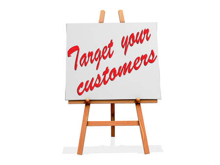 Target Your Customers on a signl Stock Photo - 19454895