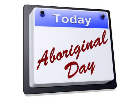Aboriginal Day on a sign Stock Photo - 19454923