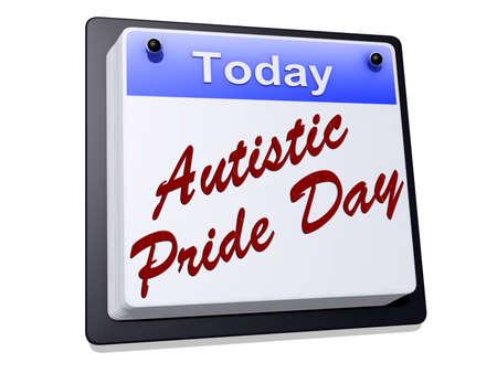 Autistische Pride Day op een bord Stockfoto