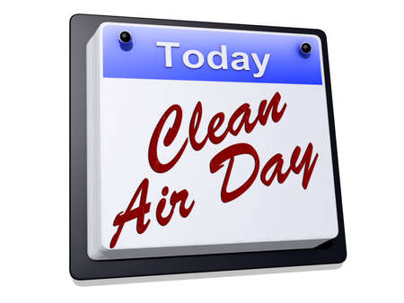 air: Clean Air Day on a sign