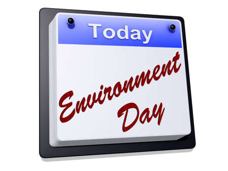Environment Day on a sign  Stok Fotoğraf