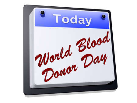 World Blood Donor Day on a sign  Stock Photo