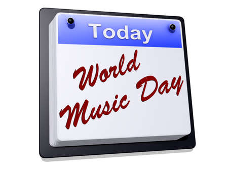 World Music Day on a sign