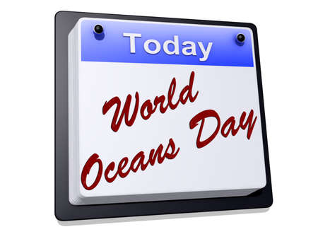 World Oceans Day on a sign Stock Photo - 19454927