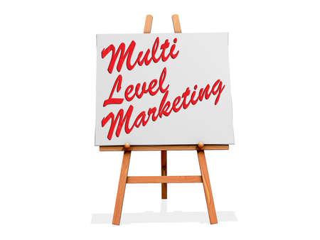 Multi Level Marketing on a sign Stock Photo - 19454916