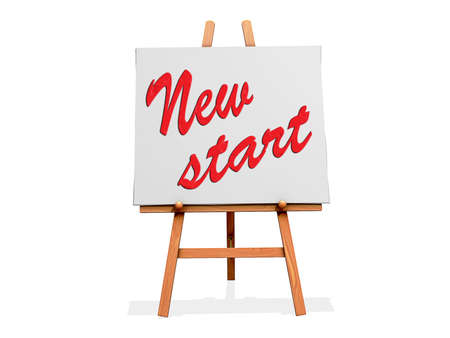 New Start on a sign Stock Photo - 19454914