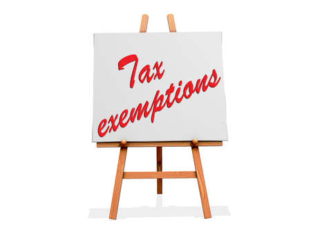 Tax Exemptions on a sign  Stock Photo - 19454913