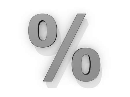 Drop Cap Percent Sign on a white background. Stock Photo - 19454912