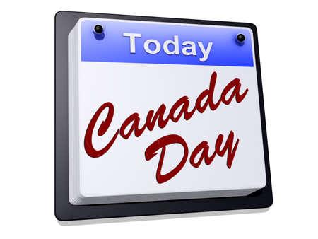 long weekend: Canada Day su un calendario Archivio Fotografico
