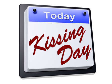 Kissing Day on a calendar  Stock Photo
