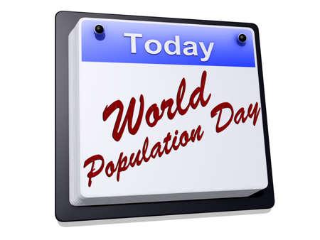 Día Mundial de la Población en un calendario Foto de archivo - 20058181