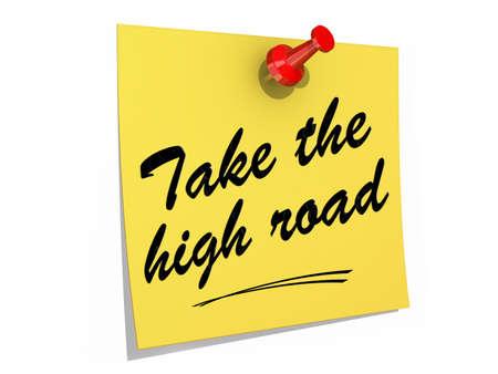 メモは、テキスト取る高道路で白い背景に固定 写真素材 - 20058240