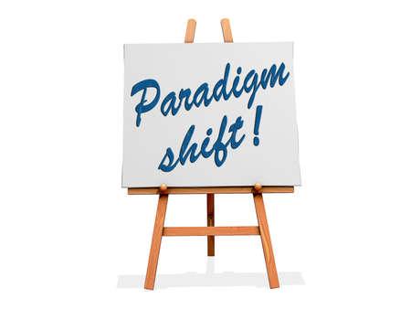 paradigma: Cambio de paradigma en un cartel.