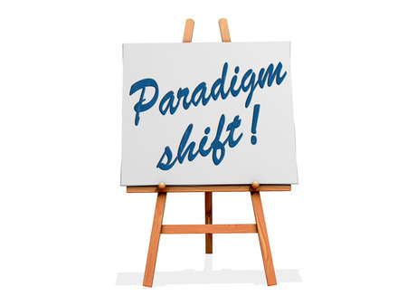 Paradigm Shift on a sign. Stock Photo