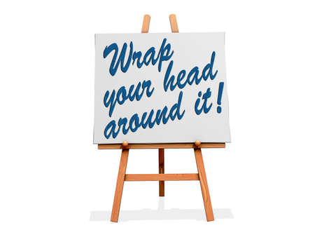 comprehension: Wrap Your Head Around It on a sign. Stock Photo