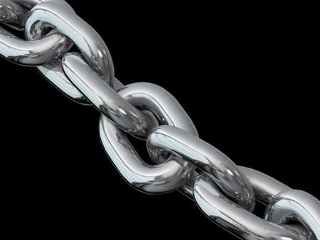 Metal chain links on a black background Stock Photo - 20401440