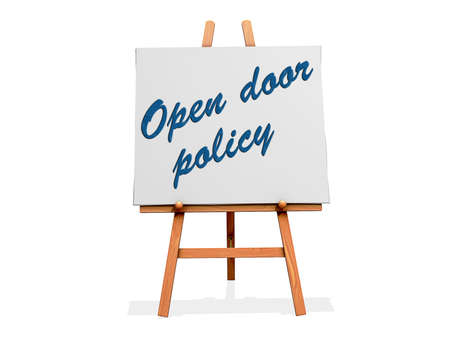 Open Door Policy on a sign. Stock Photo - 20705929