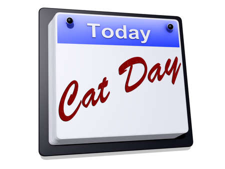 One day Calendar with  Cat Day  on a white background.