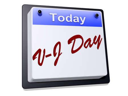 """vj: Un giorno con il Calendario """"Vittoria sul Giappone Day"""" su uno sfondo bianco."""