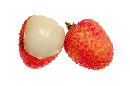 Isolated Lychee fruit photo