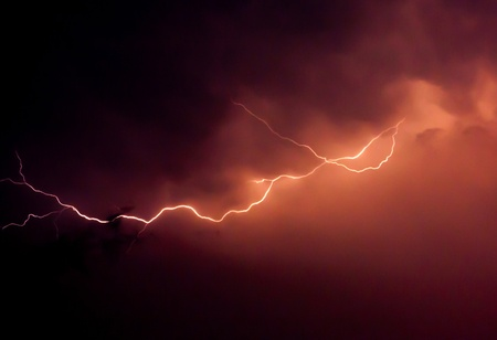 Lightning in the evening of May 1,2013. Phayao Thailand. photo