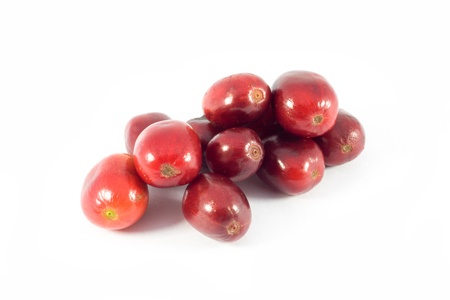 isolated cherry-like of coffee beans Stock Photo