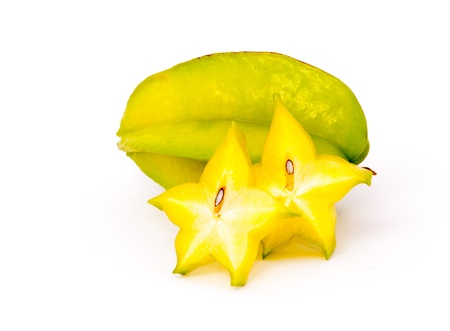isolated starfruit on white background