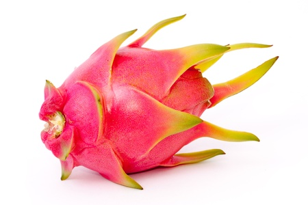 isolated dragon fruit on white background Stock Photo