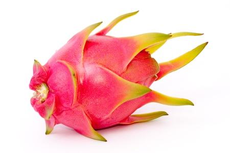 isolated dragon fruit on white background Stock Photo