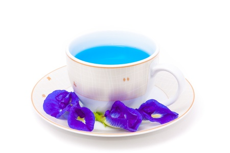 isolated pigeonwing tea in beautiful cup photo