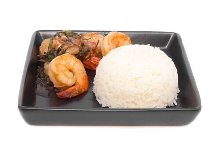 shrimp with sweet and spicy sauce ,stir and serve with jusmine rice