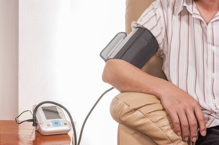 home use blood pressure tester Stock Photo
