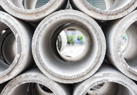 stack of concrete pipe photo