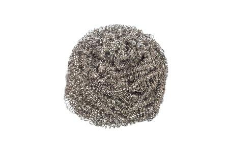 steel wool: steel wool dishwashing isolated on white
