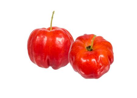 acerola fruit isolated on white Stock Photo