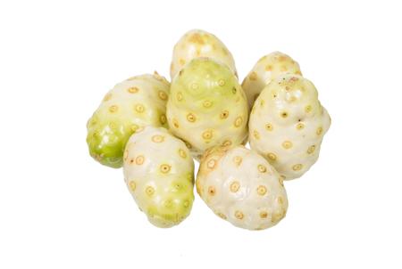 noni fruit: noni fruit isolated on white