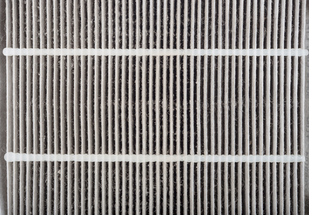 closed up of dirty car aircondition filter photo