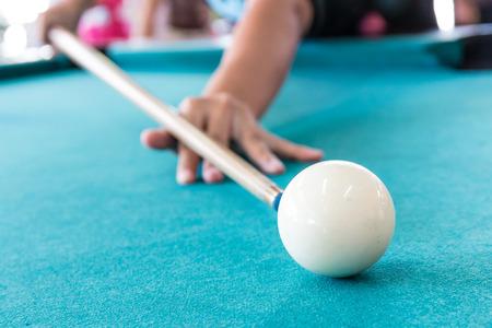 billiards halls: cue ball