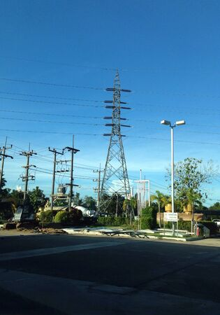 wire: High voltage electric tower