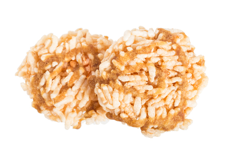rice cracker isolated on white Stock Photo