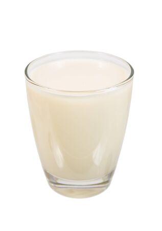 leche de soya: vaso de leche de soja
