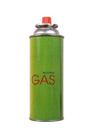 butane: liquid butane gas can isolated on white Stock Photo