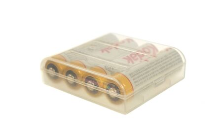 kodak: An isolation of AA type rechargeable battery brand Kodak in safety plastic pack. Editorial