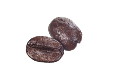 closed up of roasted coffee bean