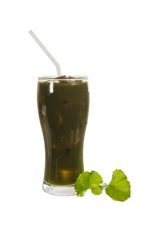 Asiatic Pennywort herb juice isolated on white