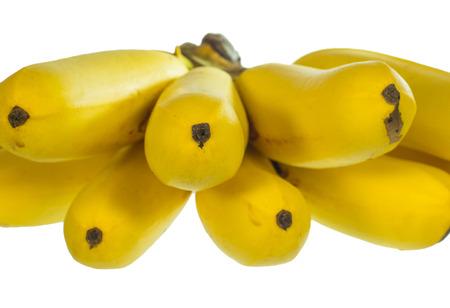 full ripe banana isolated on white