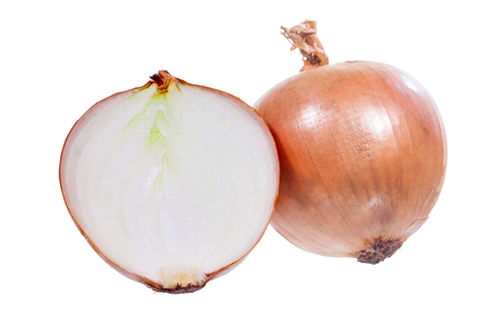 onion bulbs isolated on white