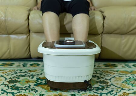 front view of electric foot spa bowl