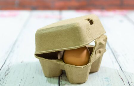 paper egg box with an agg inside
